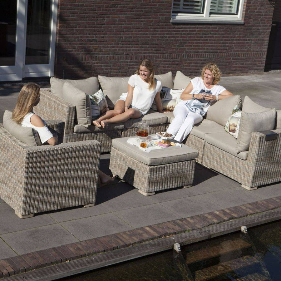 exotan garten lounge gartensofa eckcouch hell aluminium polyrattan roggemann ebay. Black Bedroom Furniture Sets. Home Design Ideas