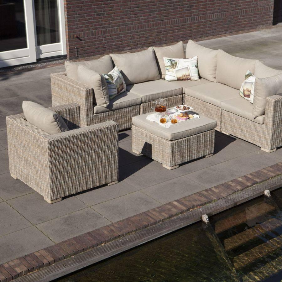 outdoor polster sessel mit kissen vivagardea ancona khaki. Black Bedroom Furniture Sets. Home Design Ideas