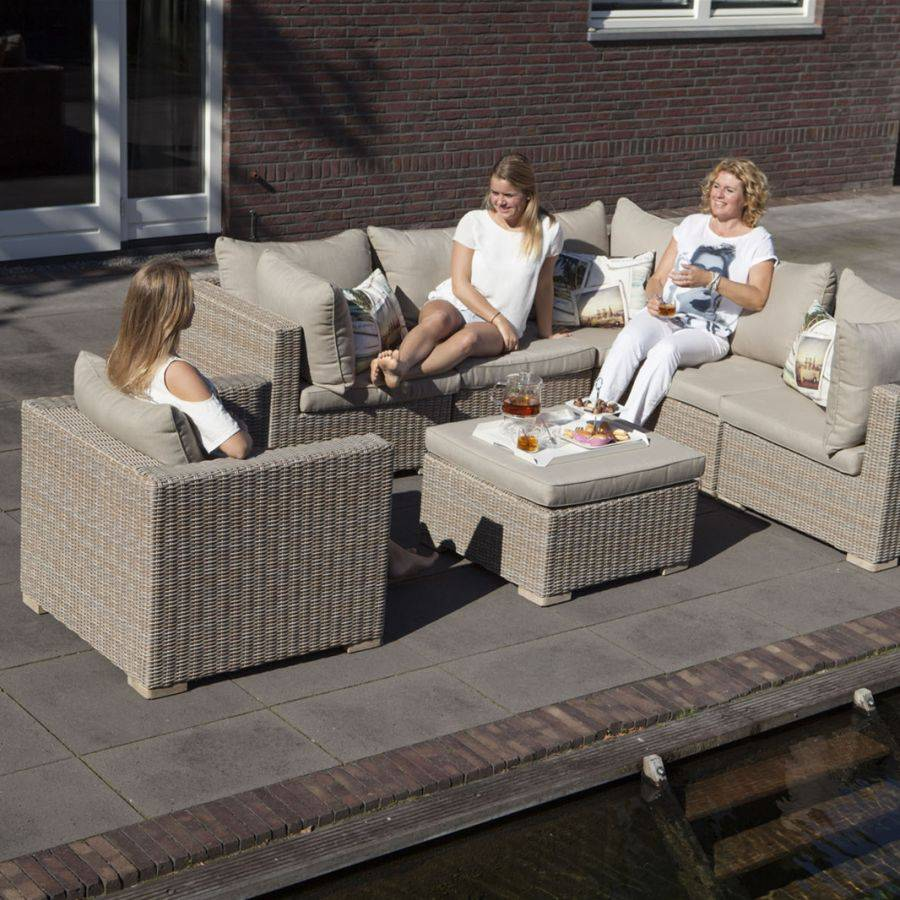 outdoor polster sessel mit kissen vivagardea ancona khaki roggemann geflecht ebay. Black Bedroom Furniture Sets. Home Design Ideas