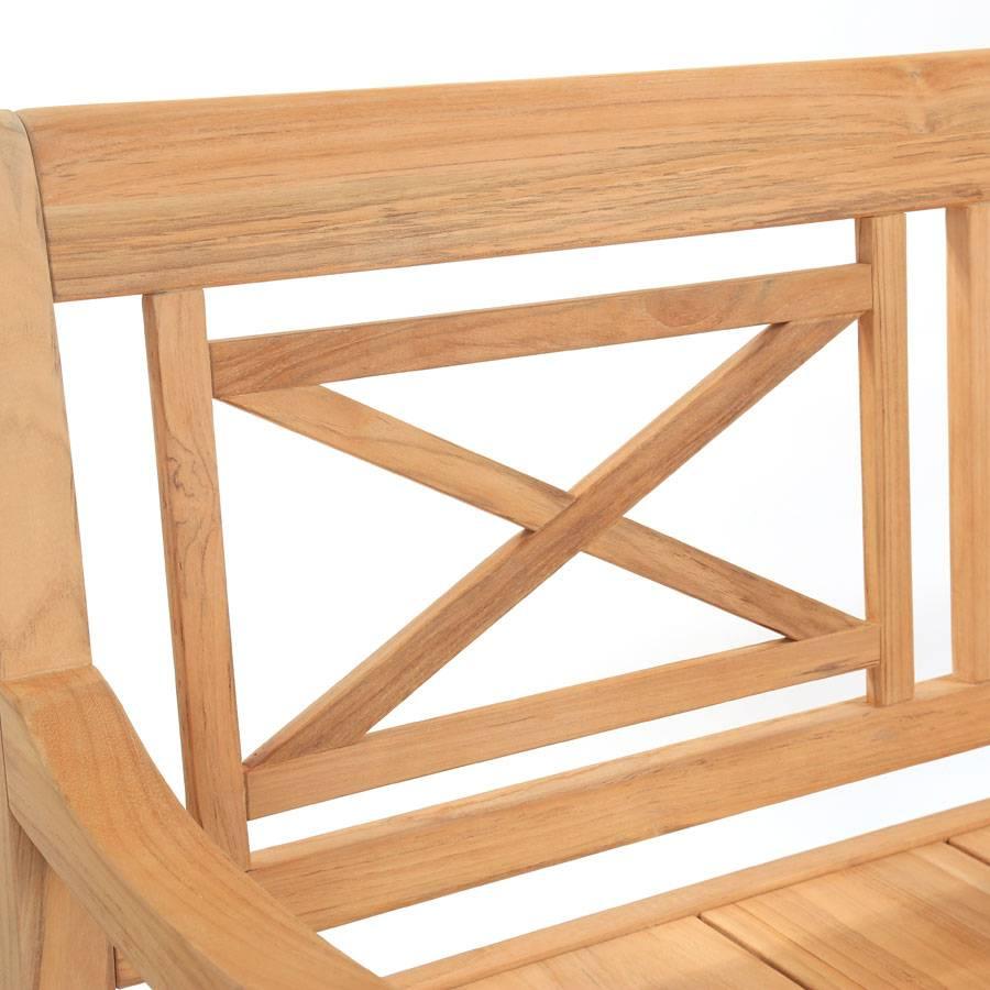 exotan teak holz bank bali 2 sitzer 123 cm holzbank. Black Bedroom Furniture Sets. Home Design Ideas