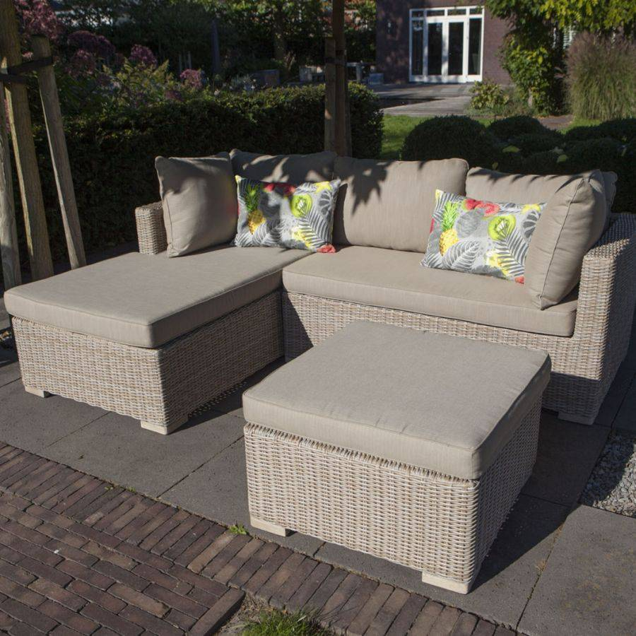 exotan sienna garten lounge chaiselongue set rechts polyrattan 6mm halbrund ebay. Black Bedroom Furniture Sets. Home Design Ideas
