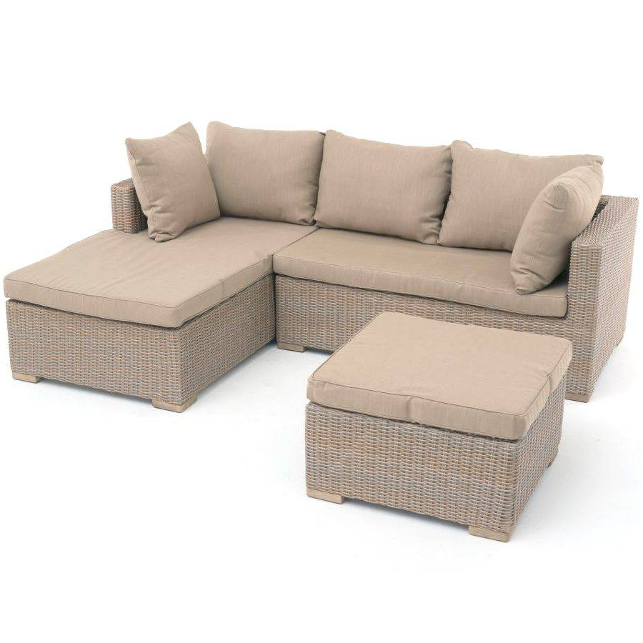 Polyrattan geflecht lounge garnitur sofa inkl polster for Sofa garnitur