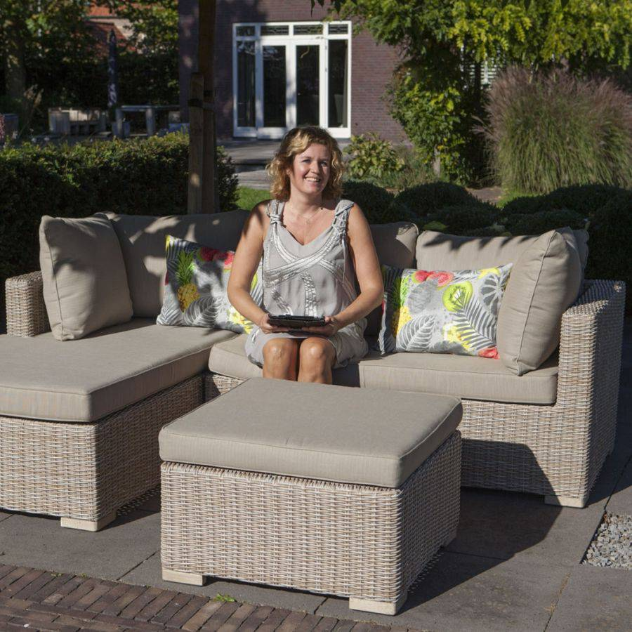 vivagardea como outdoor chaiselongue set links com02 sitzecke garten roggemann ebay. Black Bedroom Furniture Sets. Home Design Ideas