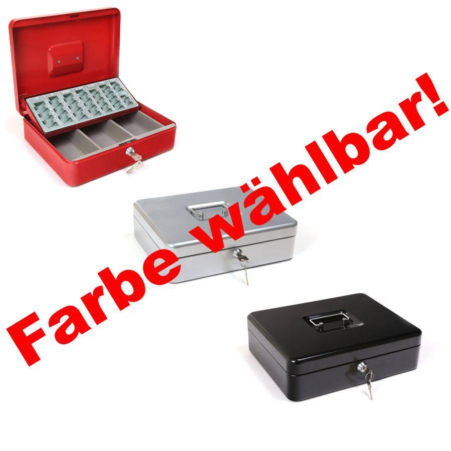 geldkassette mit m nzeinsatz kasse schl ssel schwere qualit t rot schwarz silber ebay. Black Bedroom Furniture Sets. Home Design Ideas