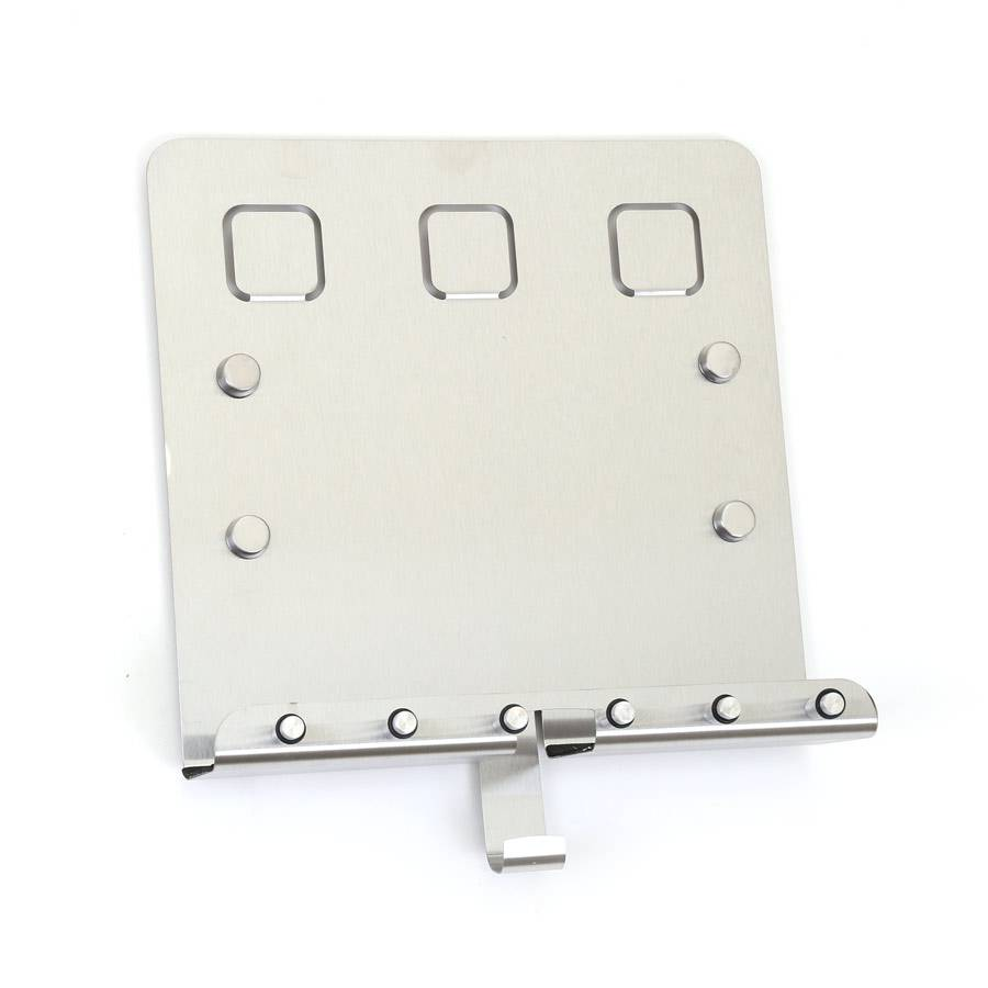 schl sselleiste edelstahl 7 haken schl sselhalter magneten memo tafel magnetisch ebay. Black Bedroom Furniture Sets. Home Design Ideas