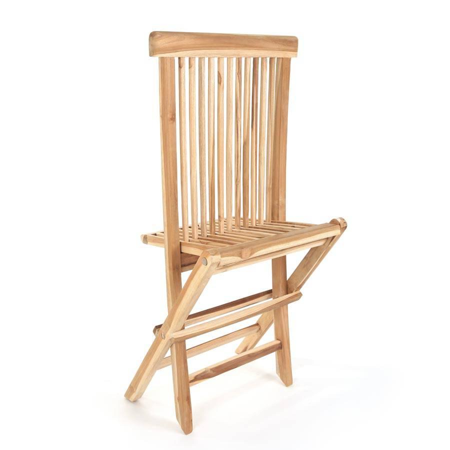 eco teak holz balkonstuhl terrassenstuhl stuhl klappbar milford 48x60x90 cm ebay. Black Bedroom Furniture Sets. Home Design Ideas