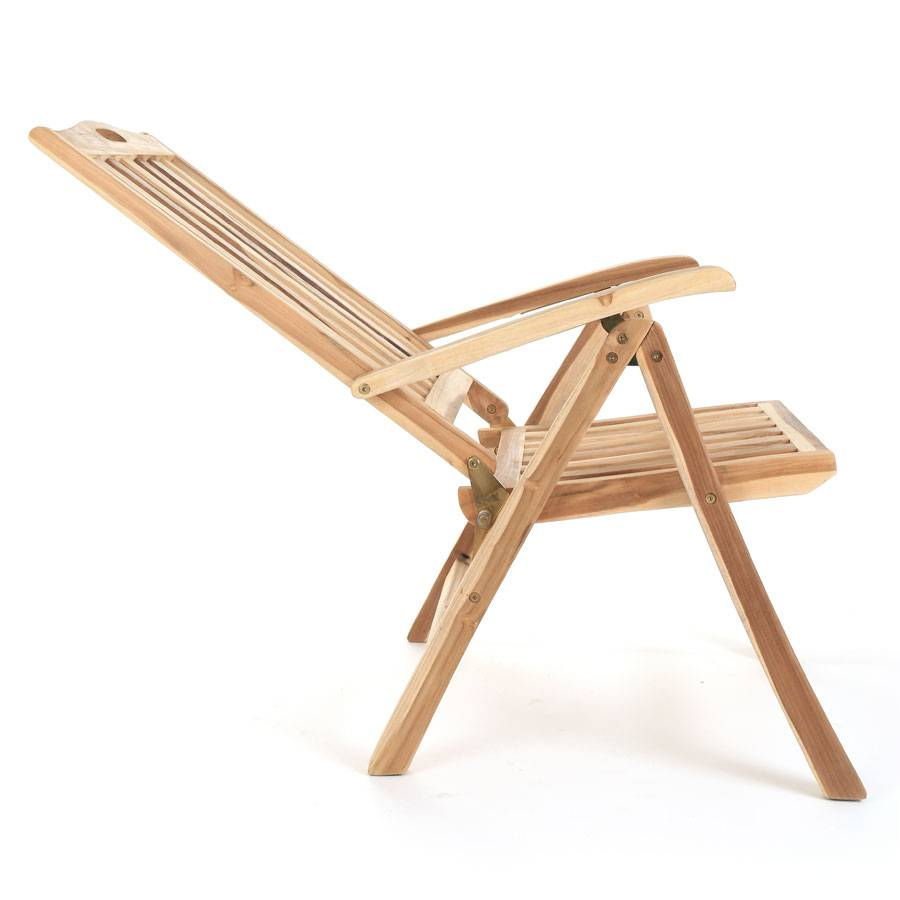 ploss eco teak stuhl hochlehner ohio klappbar holz gartenstuhl verstellbar ebay. Black Bedroom Furniture Sets. Home Design Ideas