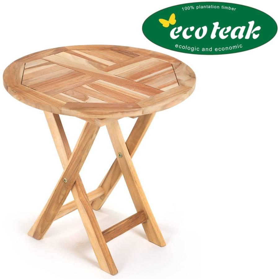 Kindertisch spieltisch rund klappbar eco teak for Kindertisch rund