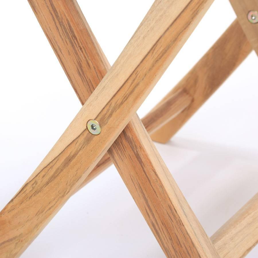 Tavolo Giardino Teak Pieghevole.Ploss Eco Teak Tavolino Tennessee Quadrato 50x50x50 Cm Pieghevole