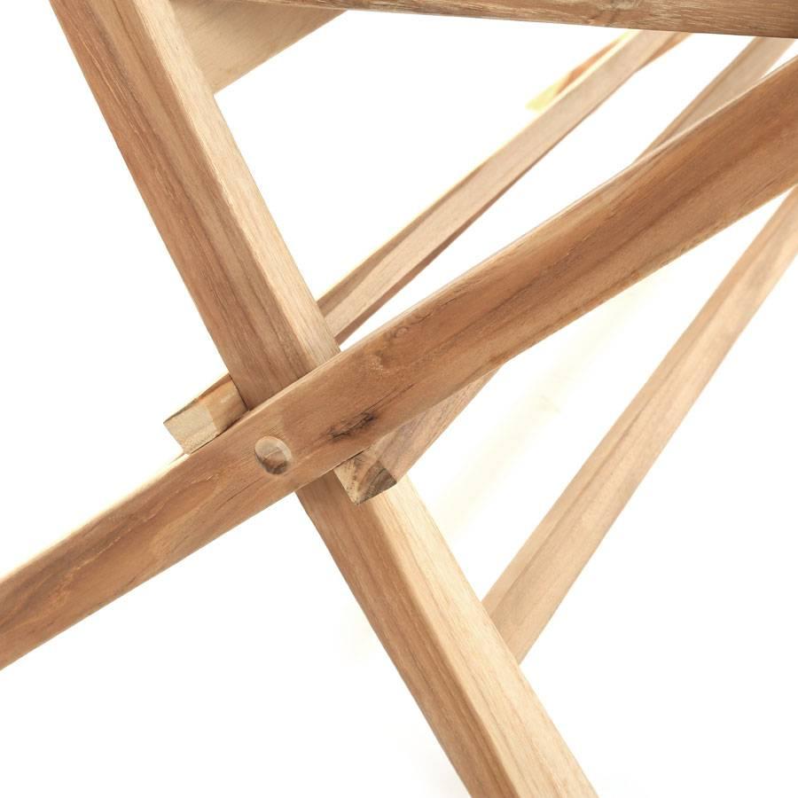 ploss eco teak holz klappbare bank milford 120 cm gartenbank holzbank parkbank ebay. Black Bedroom Furniture Sets. Home Design Ideas
