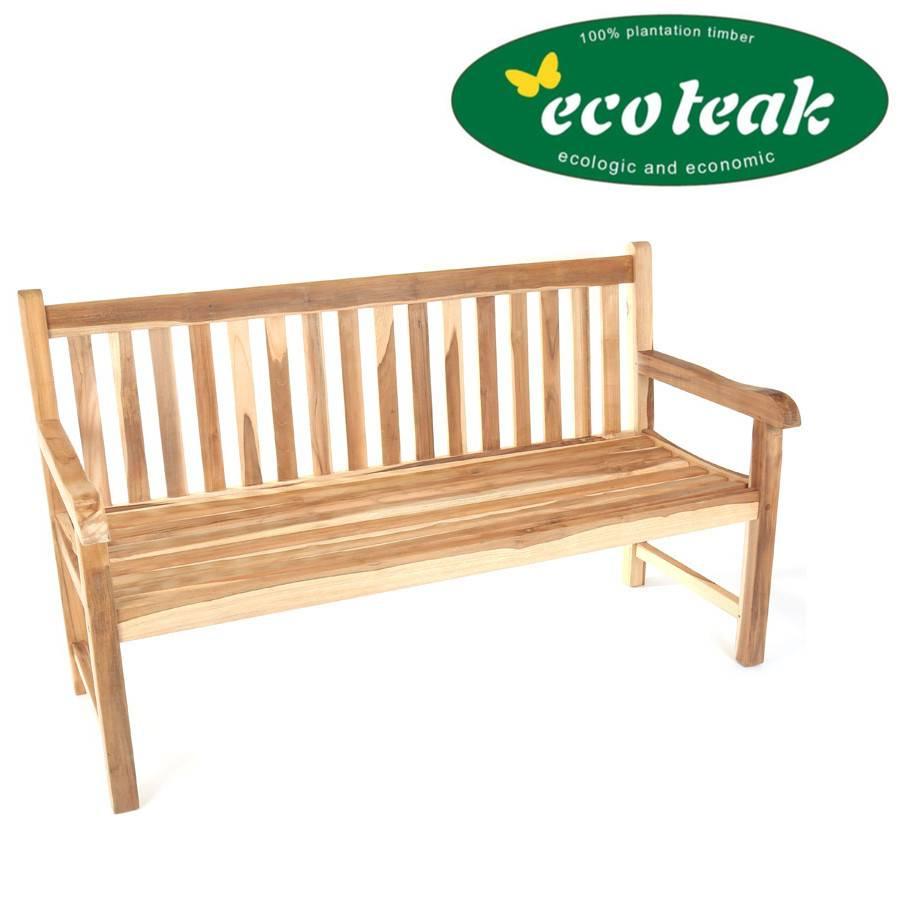 eco teak bank coventry 180 cm gartenbank teakbank holzbank. Black Bedroom Furniture Sets. Home Design Ideas