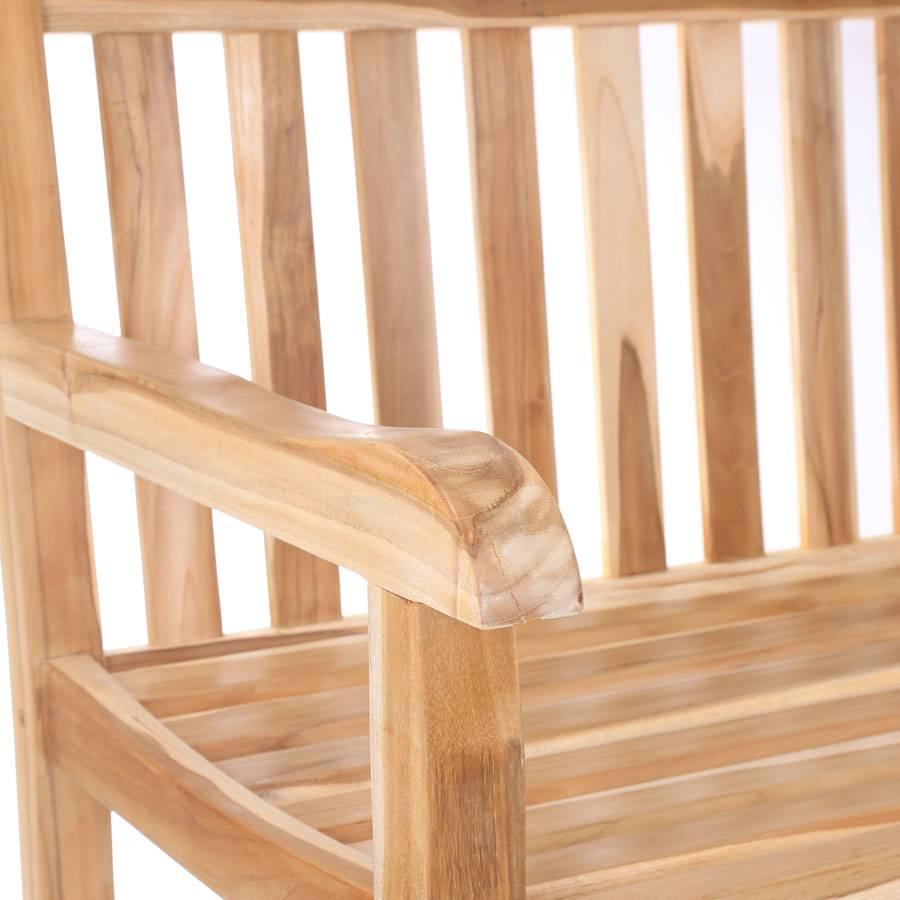 teakholz bank 180 cm sitzbank terrassenbank veranda. Black Bedroom Furniture Sets. Home Design Ideas