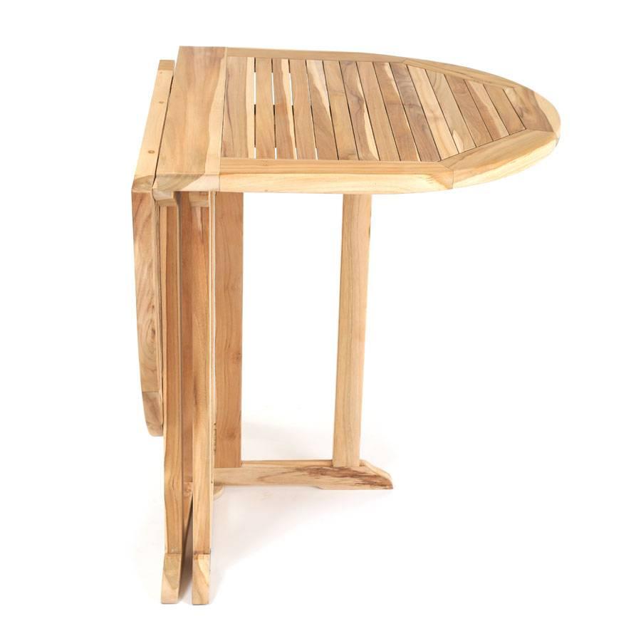 beidseitig klappbar eco teak gartentisch oval massiv holztisch terrasse tisch ebay. Black Bedroom Furniture Sets. Home Design Ideas