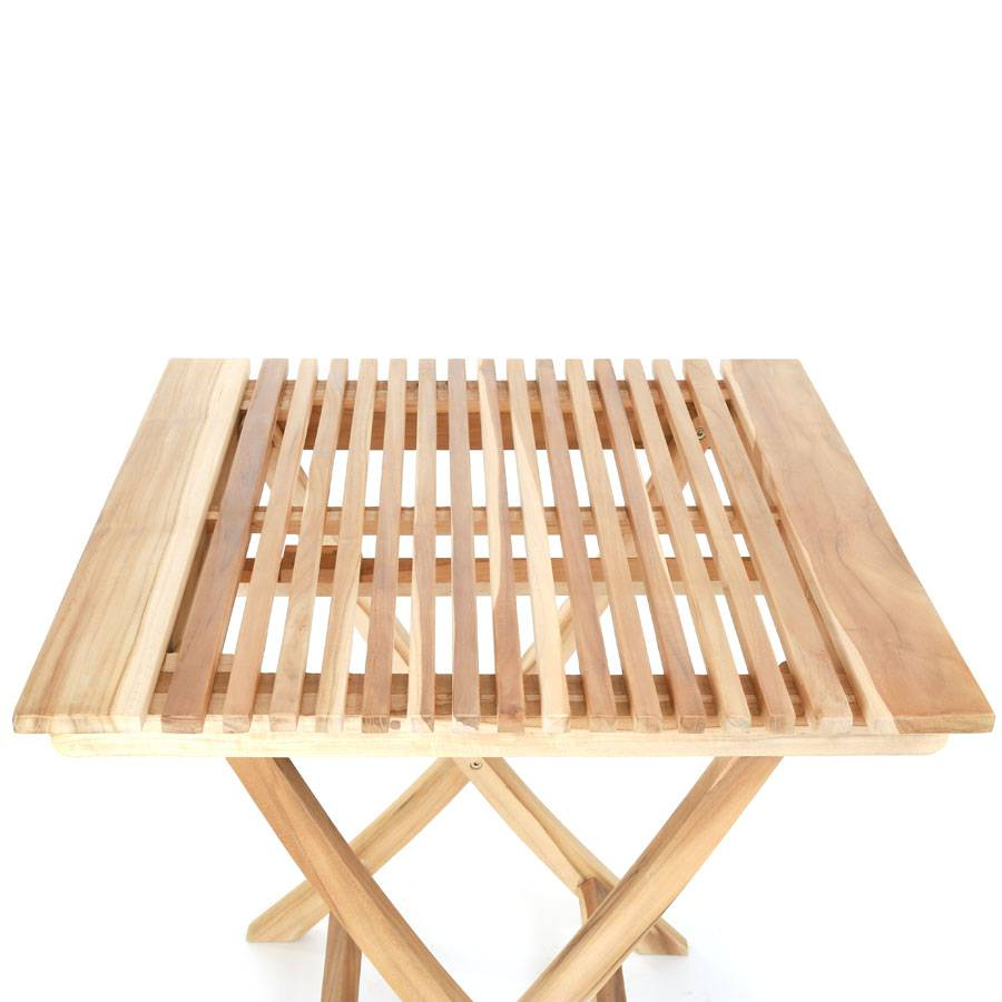 ploss eco teak tisch milford 70 x 70 cm quadratisch klappbar. Black Bedroom Furniture Sets. Home Design Ideas