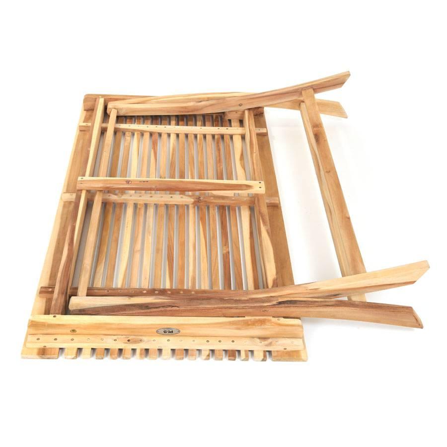 eco teak klappbarer holztisch milford 120x70 cm rechteckig massivholz ploss ebay. Black Bedroom Furniture Sets. Home Design Ideas