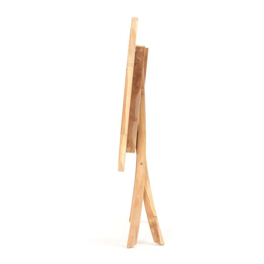klapptisch rund 90 cm eco teak holz pflegeleicht wetterfest terrasse tisch ebay. Black Bedroom Furniture Sets. Home Design Ideas