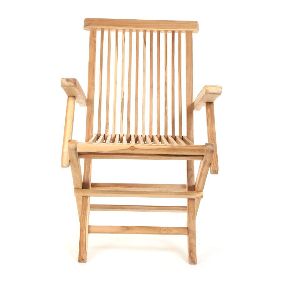 holzstuhl teakstuhl klappstuhl gartenstuhl milford mit armlehnen eco teak ploss ebay. Black Bedroom Furniture Sets. Home Design Ideas