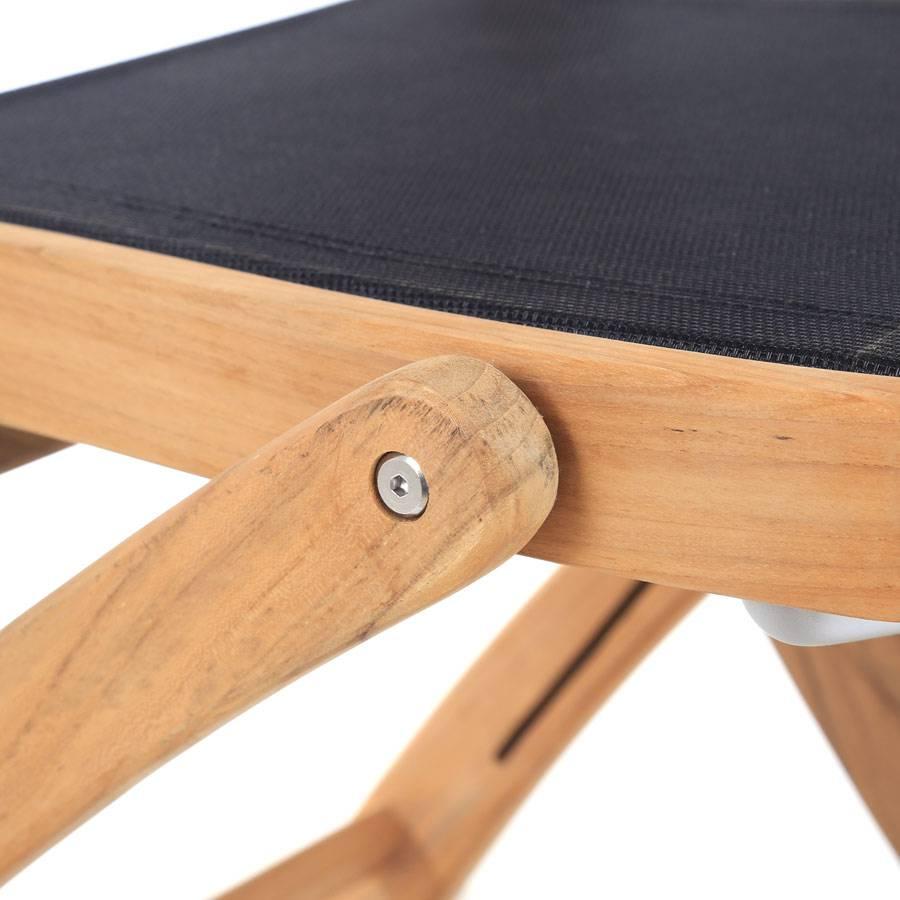 Ploss teak textilene kombination holzstuhl fairchild for Holzstuhl hersteller