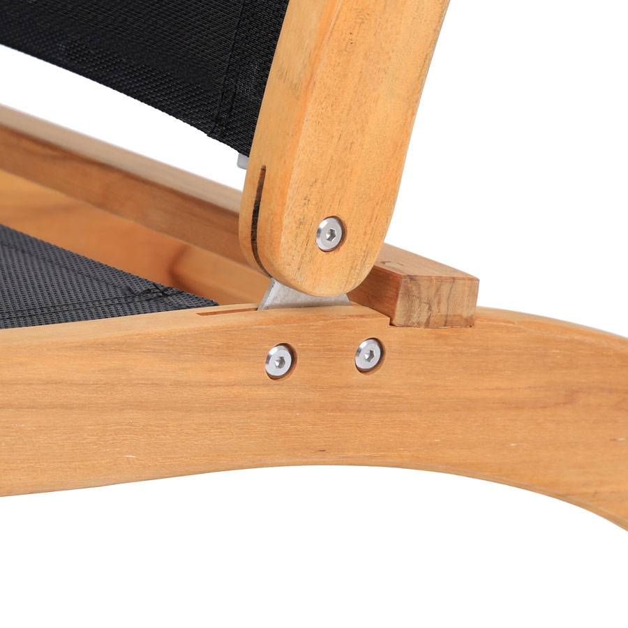 liegestuhl deckchair teak gewebe schwarz wetterbest ndig. Black Bedroom Furniture Sets. Home Design Ideas