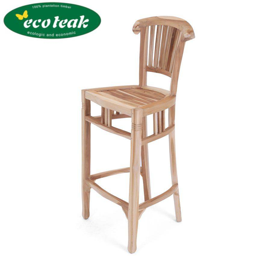 Eco teak barhocker tresenstuhl bar stuhl outdoor for Barhocker outdoor