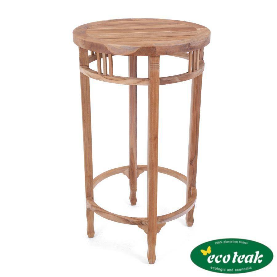 ploss eco teak bartisch new orleans rund 60 cm. Black Bedroom Furniture Sets. Home Design Ideas