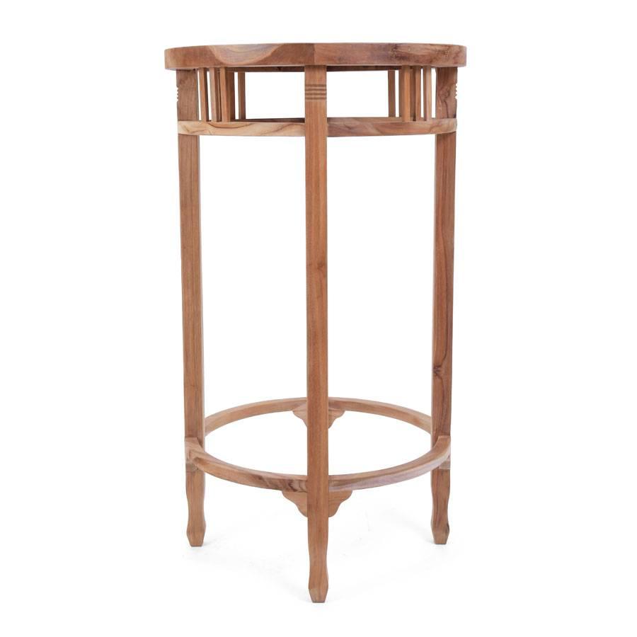 bistrotisch teaktisch bar tisch durchmesser 60 cm eco teak tresen tisch plo ebay. Black Bedroom Furniture Sets. Home Design Ideas