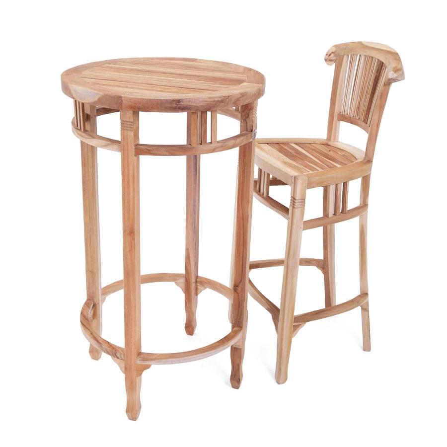 bartisch stehtisch new orleans rund 60 cm eco teak holz ploss laden in hamburg ebay. Black Bedroom Furniture Sets. Home Design Ideas