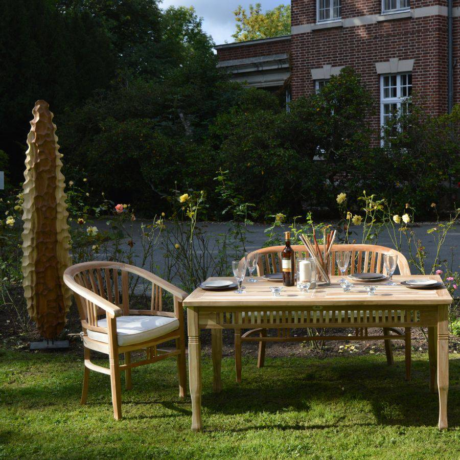 ploss eco teak teakstuhl teak stuhl f r garten terrasse gartenstuhl ebay. Black Bedroom Furniture Sets. Home Design Ideas