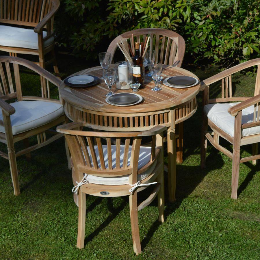 ploss eco teak tisch new orleans rund 100 cm. Black Bedroom Furniture Sets. Home Design Ideas