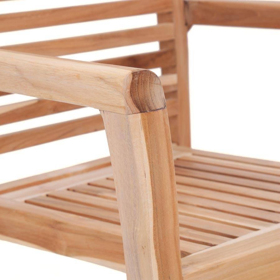 ploss eco teak holzstuhl pittsburgh stapelbar teakstuhl mit armlehnen garten ebay. Black Bedroom Furniture Sets. Home Design Ideas