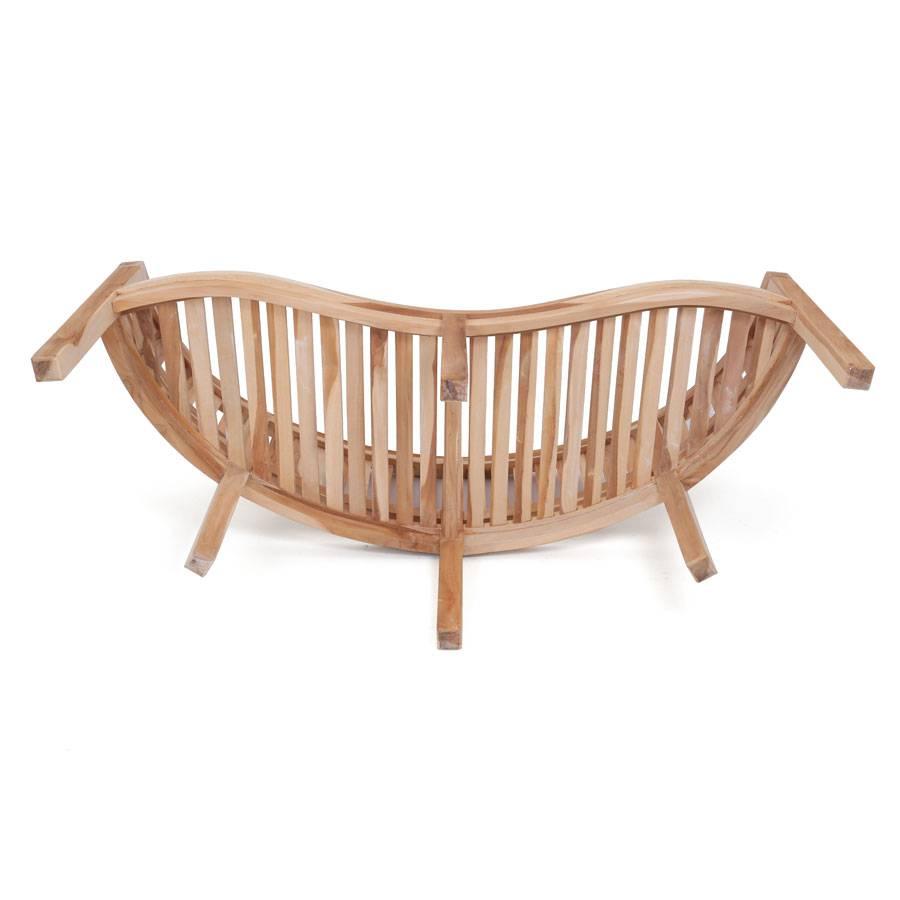 ploss eco teak bank san francisco 150 cm. Black Bedroom Furniture Sets. Home Design Ideas