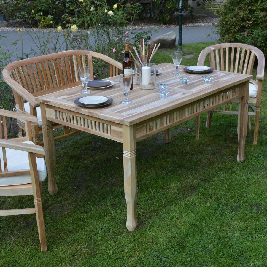 teakholz tisch rechteckig ploss eco teak terrassentisch massivholz esstisch ebay. Black Bedroom Furniture Sets. Home Design Ideas