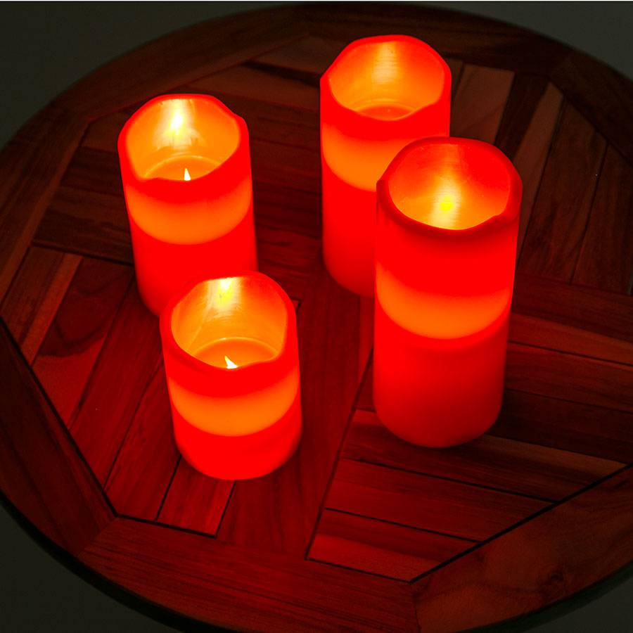 schnellversand led kerzen weihnachtskerzen adventskranz rot schaltbar flackernd ebay. Black Bedroom Furniture Sets. Home Design Ideas