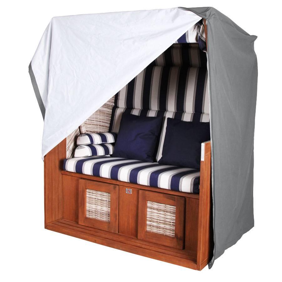 vivagardea premium strandkorb ganzjahreshaube schutzh lle haube xl 135 cm grau ebay. Black Bedroom Furniture Sets. Home Design Ideas