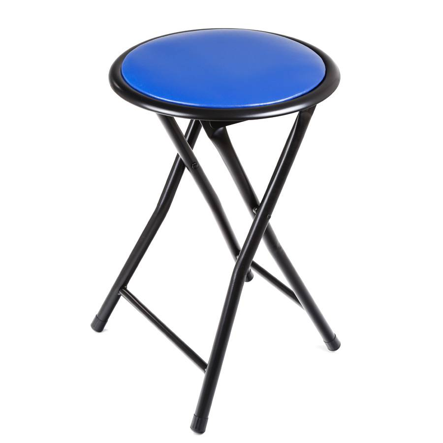 hocker klappbar campinghocker faltstuhl 30 cm durchmesser stahl klapphocker blau ebay. Black Bedroom Furniture Sets. Home Design Ideas