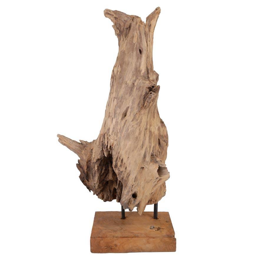 dekofigur teakfigur erosion 57 cm holzfigur holzskulptur. Black Bedroom Furniture Sets. Home Design Ideas