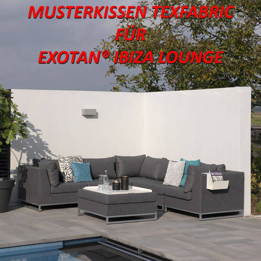 Exotan ® texfabric sample Cushion muestra outdoor Lounge échantillon patrón Probe