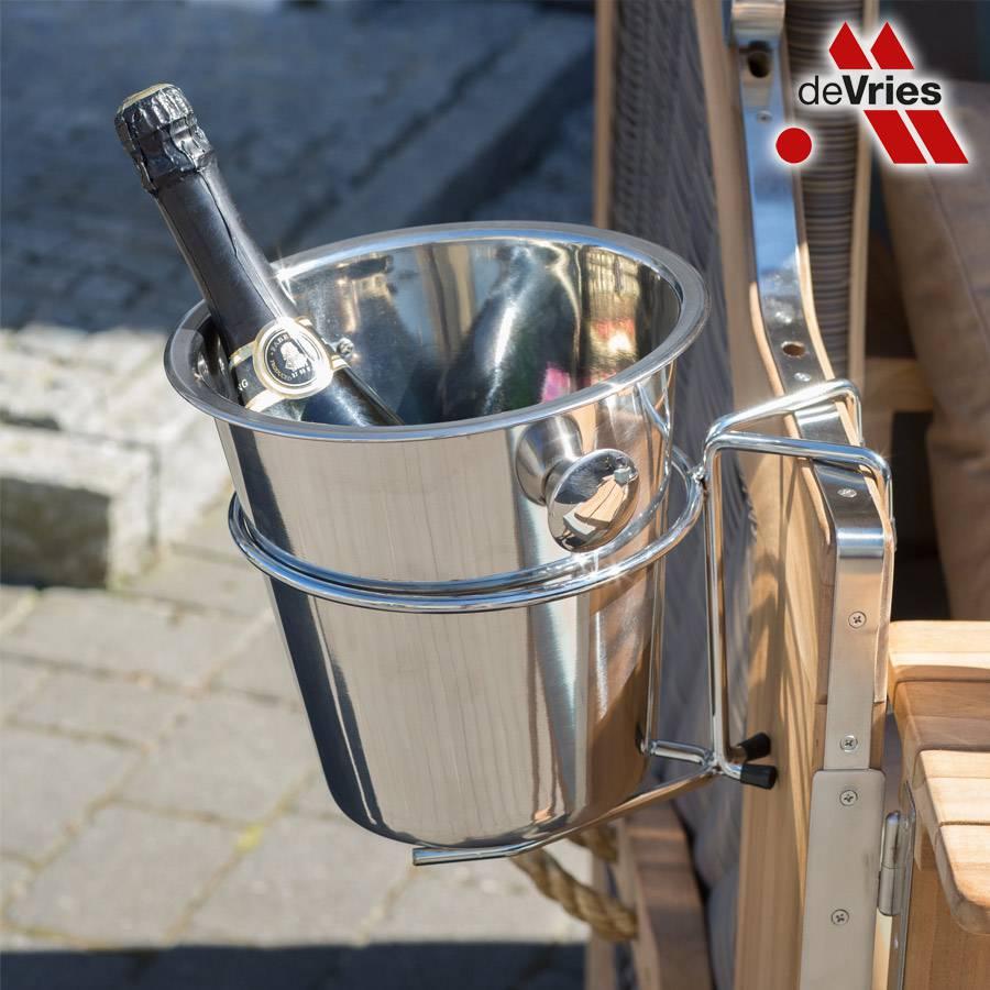 devries edelstahl champagner sektk hler f r strandk rbe. Black Bedroom Furniture Sets. Home Design Ideas