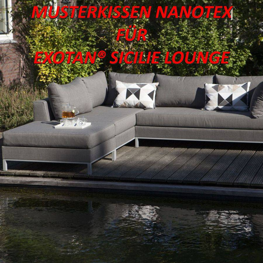 exotan musterkissen nanotex wetterfest garten lounge muster zur ansicht ebay. Black Bedroom Furniture Sets. Home Design Ideas