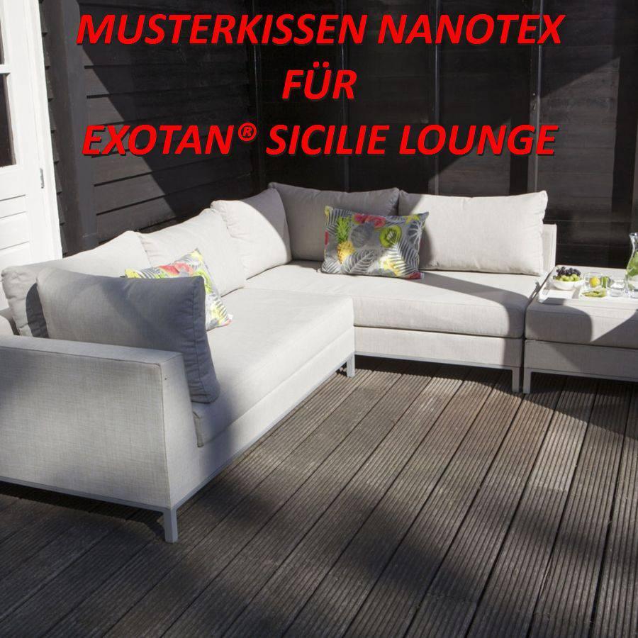 exotan musterkissen nanotex wetterfest garten lounge muster zur ansicht ebay. Black Bedroom Furniture Sets. Home Design Ideas