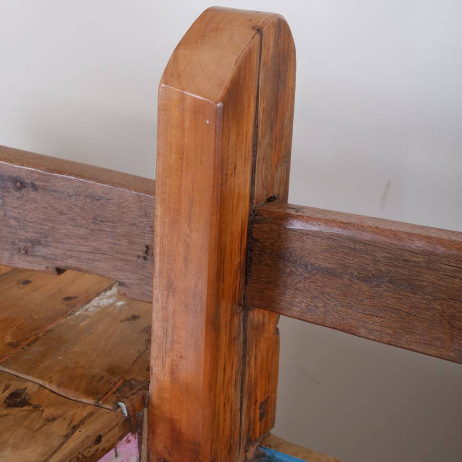 teak holz bootsbank gartenbank einzelst ck 228 cm fischerboot handarbeit massiv ebay. Black Bedroom Furniture Sets. Home Design Ideas