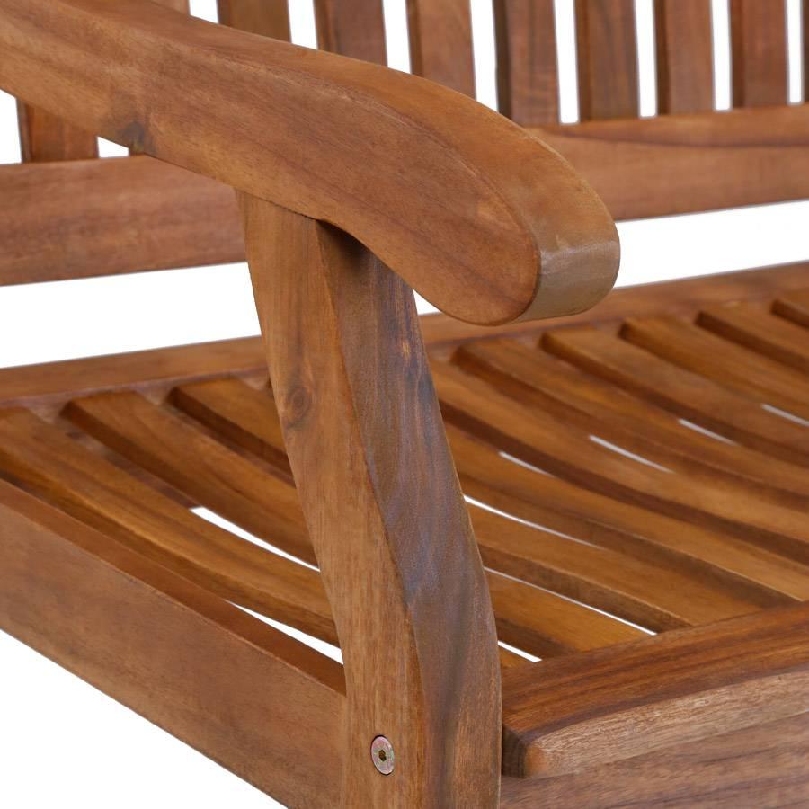 ploss bank gartenbank holzbank kalmar akazie fsc suntorini outdoorm bel ebay. Black Bedroom Furniture Sets. Home Design Ideas