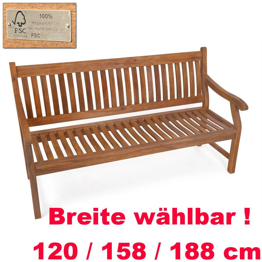 gartenbank holzbank akazienholz fsc zertifiziert ergonomisch laden hamburg ebay. Black Bedroom Furniture Sets. Home Design Ideas