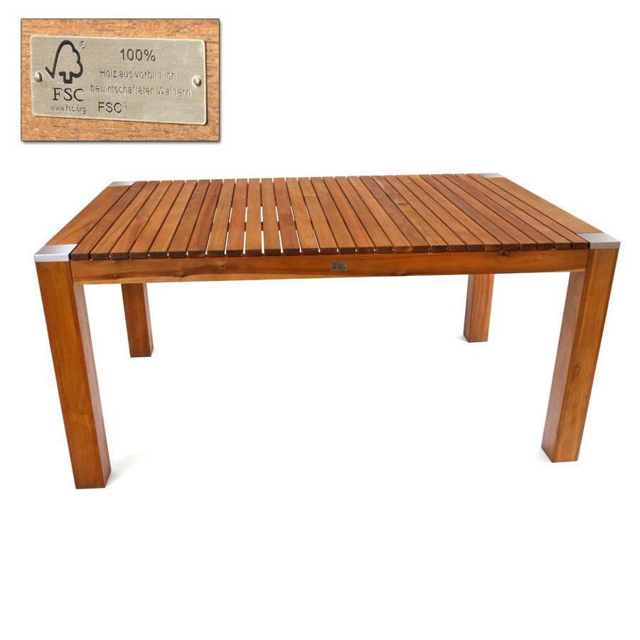terrassentisch holztisch garten tisch akazie 160 x 100 rechteckig hartholz fsc ebay. Black Bedroom Furniture Sets. Home Design Ideas