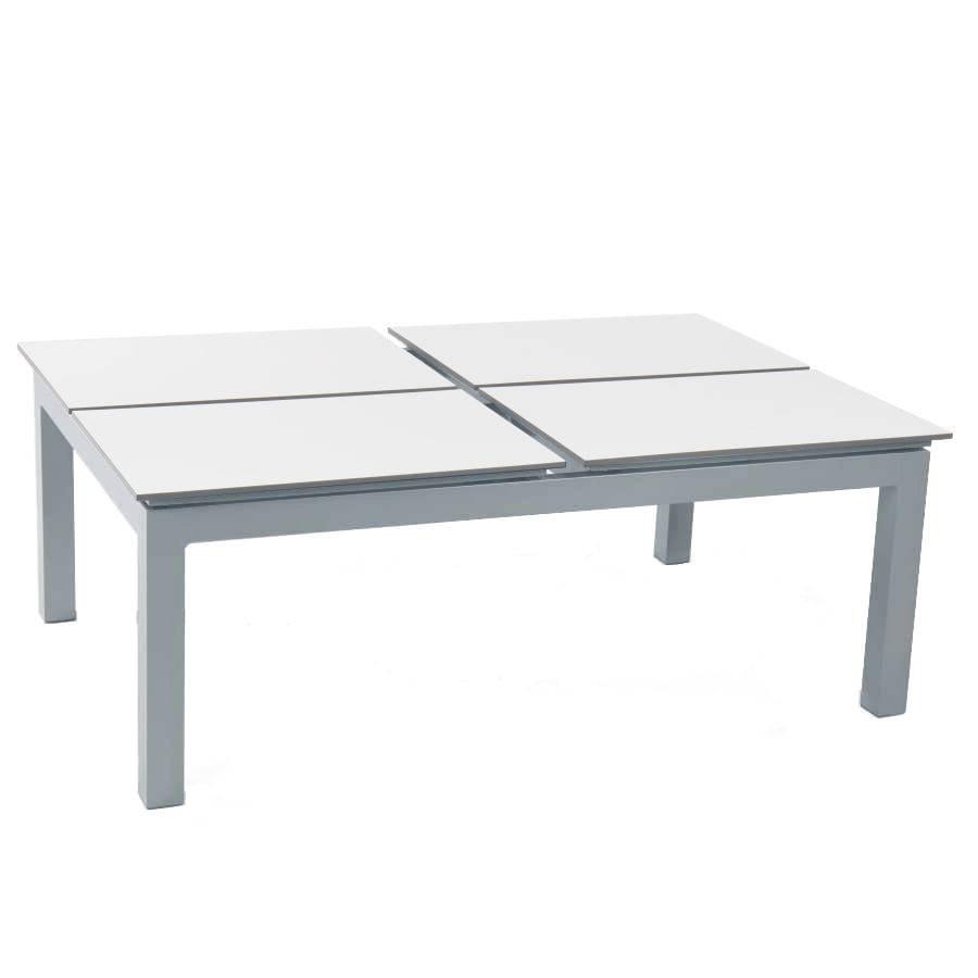 lounge tisch chili 120 x 80 x 45 cm mit 4 hochklappbaren hpl platten weiss. Black Bedroom Furniture Sets. Home Design Ideas