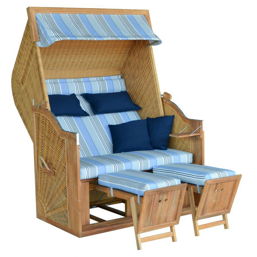strandkorb devries trendy pure greenline 140 xl teak dessin 662 fsc zertifiziert. Black Bedroom Furniture Sets. Home Design Ideas
