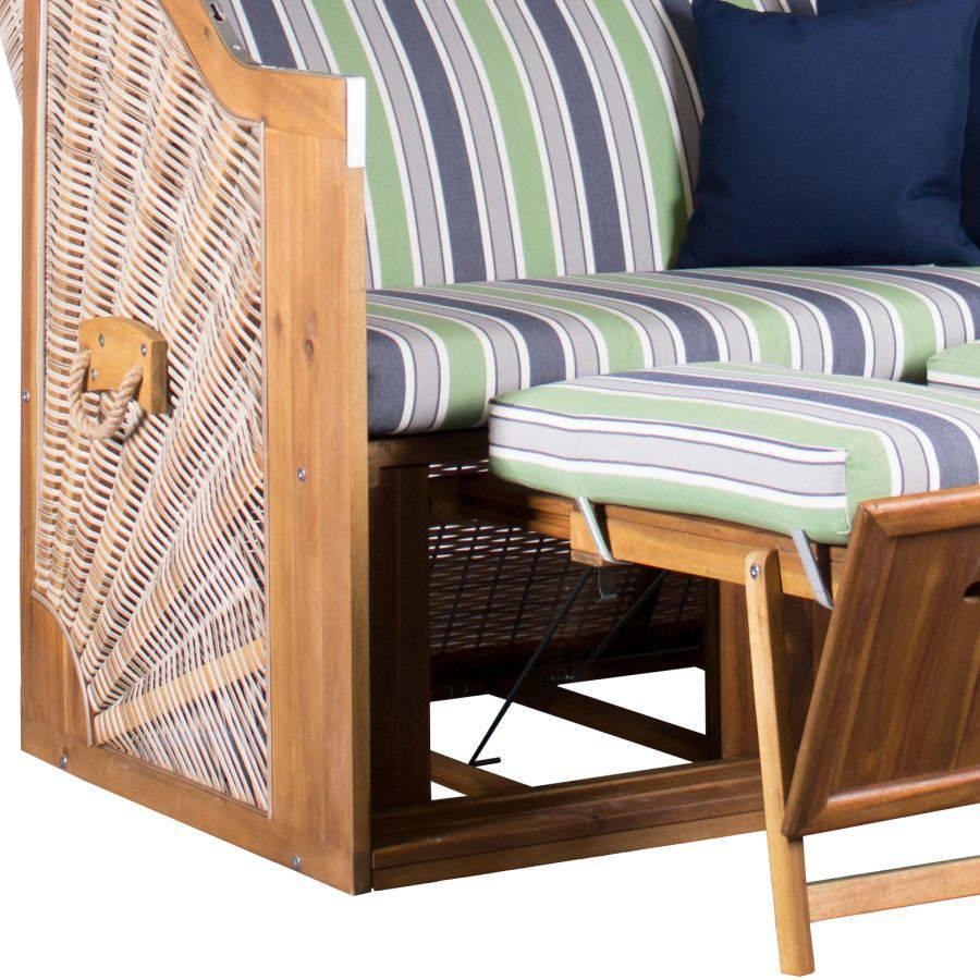 strandkorb devries trendy pure greenline 140 xl dessin 713 fsc antique white. Black Bedroom Furniture Sets. Home Design Ideas