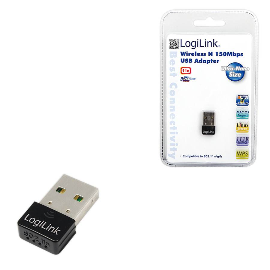 logilink usb ultra nano wlan adapter 150 mbps. Black Bedroom Furniture Sets. Home Design Ideas