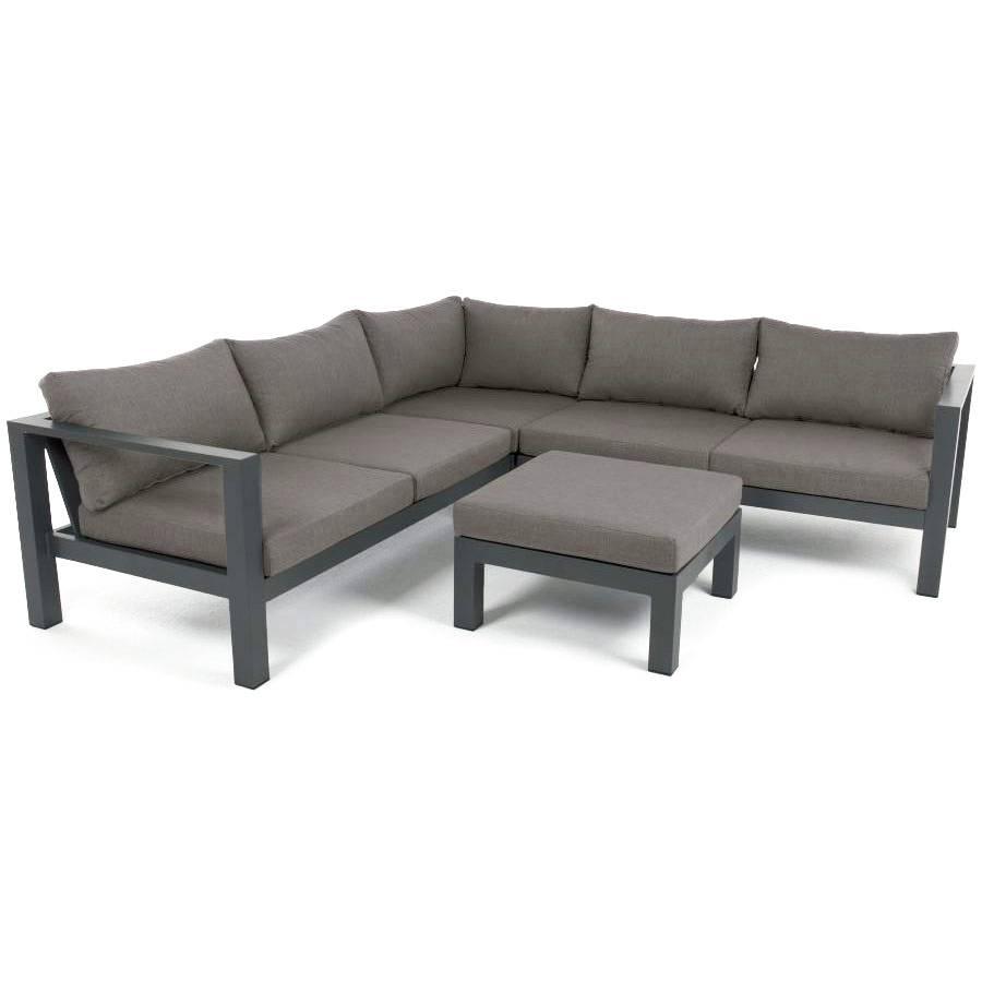 vivagardea mimizan garten terrasse lounge sitzgruppe ecksofa hocker wetterfest ebay. Black Bedroom Furniture Sets. Home Design Ideas
