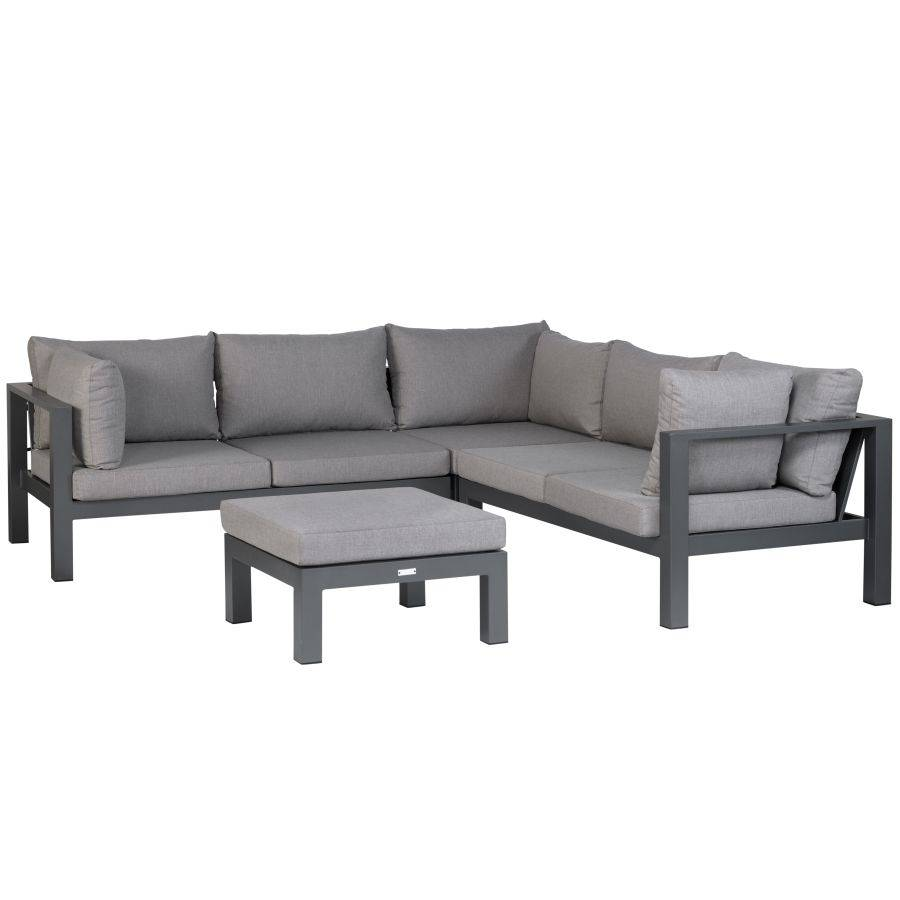wetterfeste gartenlounge sitzgruppe nanotex bez ge aluminium lounge sofa ecke ebay. Black Bedroom Furniture Sets. Home Design Ideas
